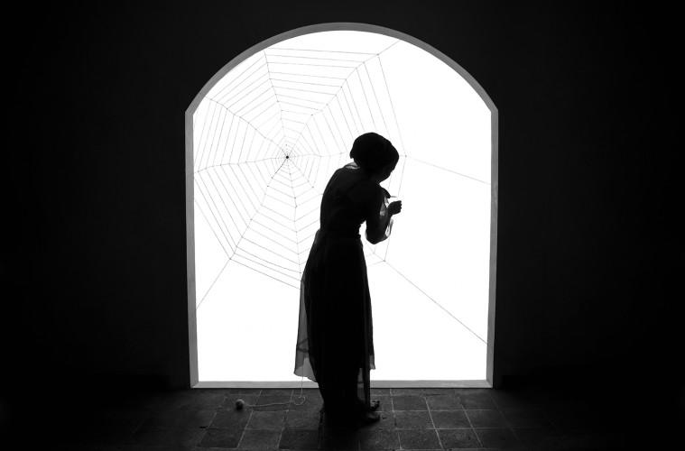 Shadi Ghadirian, Miss Butterfly #6, 2011, Digital Print 70 x 100 cm. (27,5 x 39,4 inches) / 100 x 150 cm. (39,4 x 59 inches) Edition of 10 Courtesy Officine dell'Immagine, Shadi Ghadirian