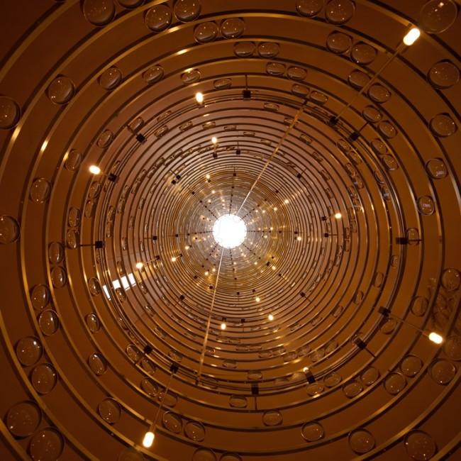 Mario Nanni. Solis silos: nutrirsi di luce, Viabizzuno inmilano, Milano (silos, interno)