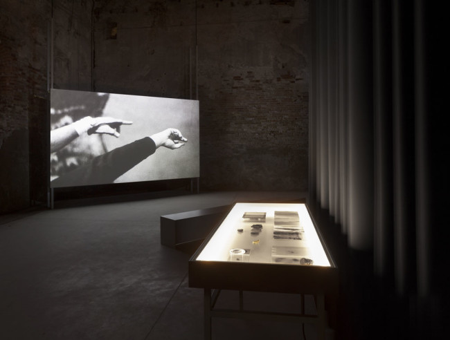 Installation view, the Swedish Pavilion at the 56th International Art Exhibition of la Biennale di Venezia: Lina Selander, Excavation of the Image - Imprint, shadow, spectre, thought. Commissioned by Moderna Museet, Lina Selander, 2015
