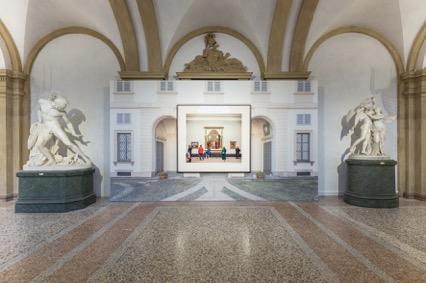 Veduta della mostra DON'T SHOOT THE PAINTER. Dipinti dalla UBS Art Collection, GAM MIlano Foto:Delfino Sisto Legnani, Marco Cappelletti
