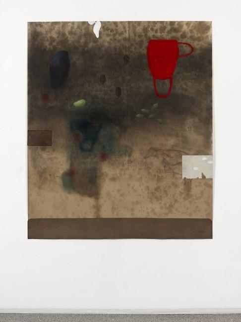 Humus 15, 2015, cm 180x151, tecnica mista su cartoncino