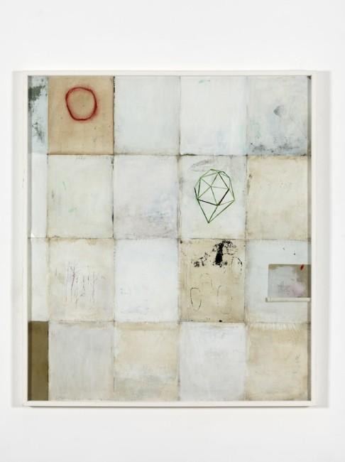 Patch 1, 2015, cm 139x121, tecnica mista e collage su cartoncino