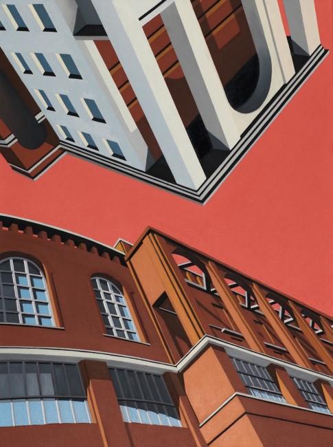 Marco Petrus, Upside Down, 2014, olio su tela, 80x60 cm