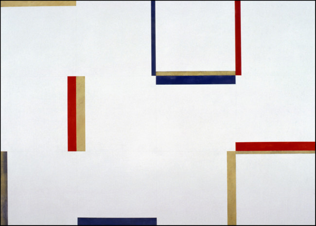 Claudio Verna, Pittura, 1974, acrilico su tela, 100x140 cm Courtesy Primo Marella Gallery