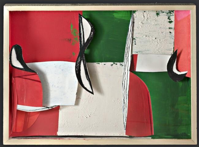 Tommaso Cascella, Aspettando il vento, 2013, tecnica mista su tavola, 60x80 cm