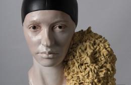 Giuseppe Bergomi, ILARIA CUFFIA E SPUGNA 18 ANNI DOPO, 2015, ceramica