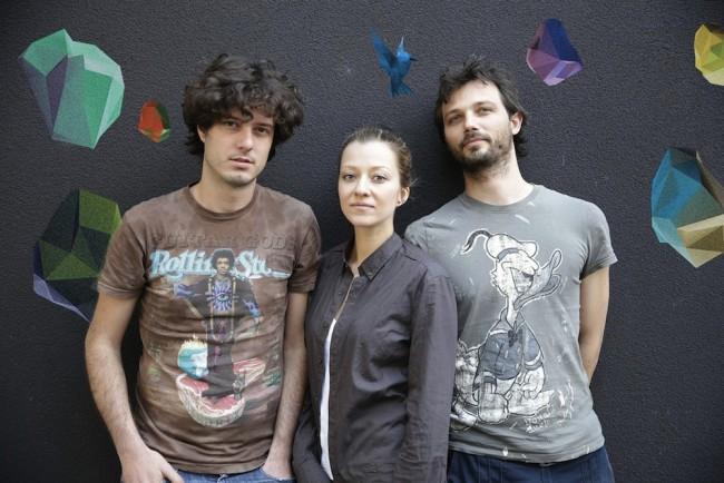 Bepart: da sinistra Giovanni Franchina, Lilia Haralampieva, Joris Jaccarino