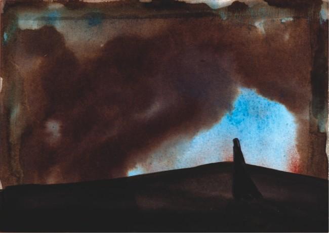Enrico Pau, Studi per L'Accabadora, 2014-15, tecnica mista su carta e cartoncino