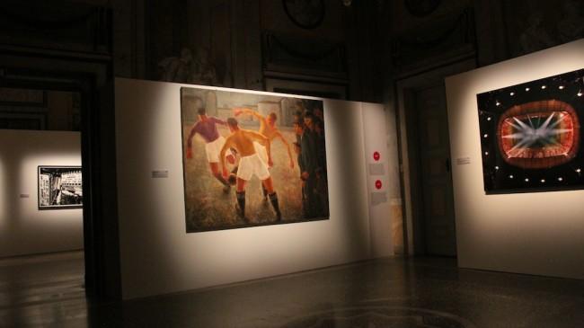 Com'è viva la città. Art & the City 1913-2014 … de Chirico, Warhol, Pistoletto, Lichtenstein, Chia, Cattelan…, veduta della mostra, Villa Olmo, Como