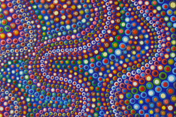 DAVIDE NIDO, ONDE COLORATE NEL BLU, 2014, tec mista su tela, 80x80cm
