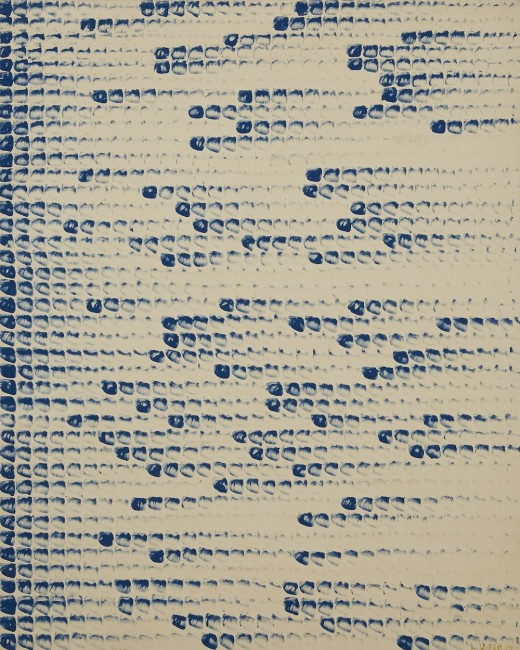 Lee Ufan, From Point, 1974, oil on canvas, 160×130 cm Photo by Sang-tae Kim Courtesy of Kukje Gallery