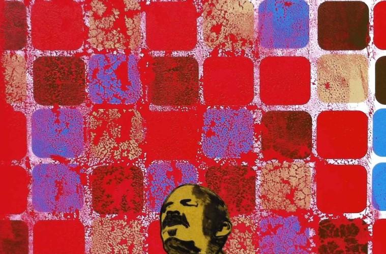 Michael Rotondi, Lenin's death, 2013, mixed media on canvas, 80x60 cm