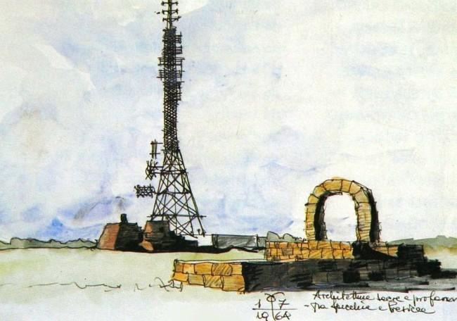 Paolo Caccia Dominioni, Salento_1964_tecnica_mista_5