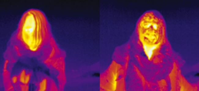 "Stefano Cagol, ""The Body of Energy (of the mind): Kirkenes"", 2015 infrared Barents Spektakel, Norvegia, 7 febbraio 2015 © Stefano Cagol"