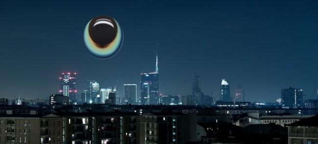 Li Shurui, Milano Skyline - january 5 2013, veduta dell'opera