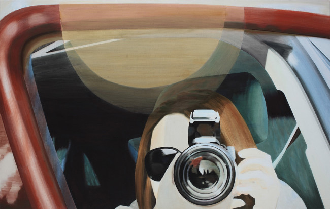 Wang Qiang, Tourist, 2010, acrylic on canvas, cm89x140 © Viasaterna - White Space Beijing