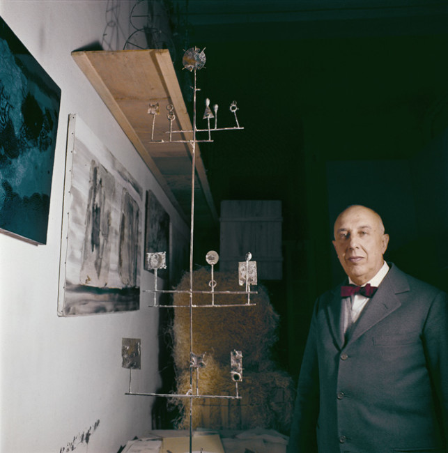 Portrait de Fausto Melotti Publié dans Domus n°400, mars 1963 Credit photo: Domus Archives © Editoriale Domus S.p.A. Rozzano (Italy)