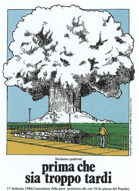 Massimo Dolcini, Camminata per la pace, 1980, serigrafia