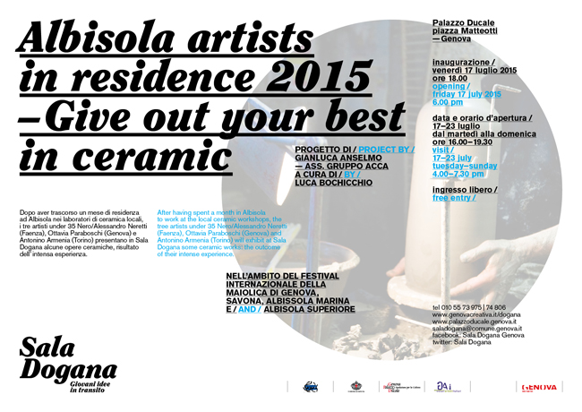 ALBISOLA Artists in Residence 2015
