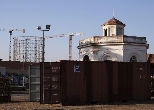 Contain[era], container Italia di Carlo Zanni, work in progress Foto Luisa Galdo