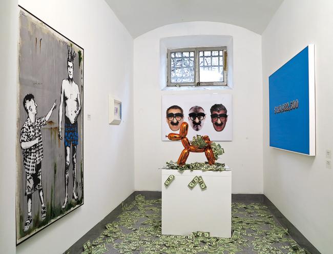 Mr. Savethewall, Balloon Art, 2014 veduta dell'installazione a The Others
