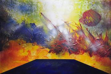 Giacomo Lusso, Dei segni la battaglia, 2002, cm 100x150