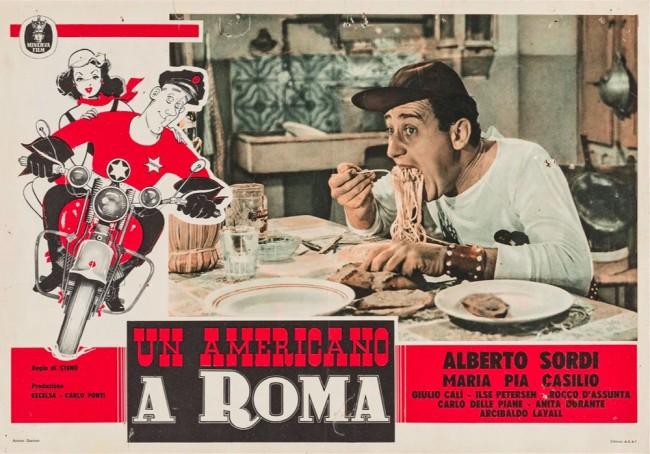 """Locandina del film """"Un americano a Roma"""""""