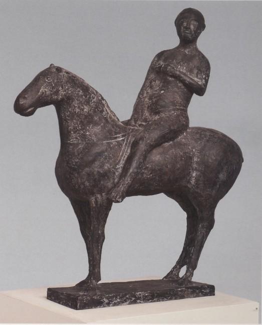Marino Marini, Cavaliere, 1945, bronzo, 105x100x36 cm