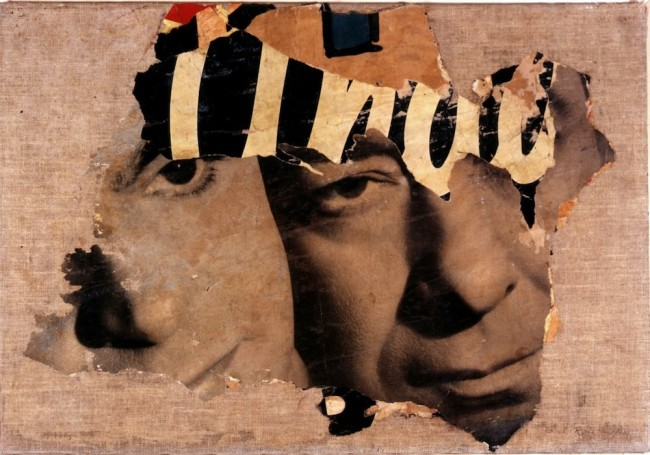 Mimmo Rotella, I due visi, 1962