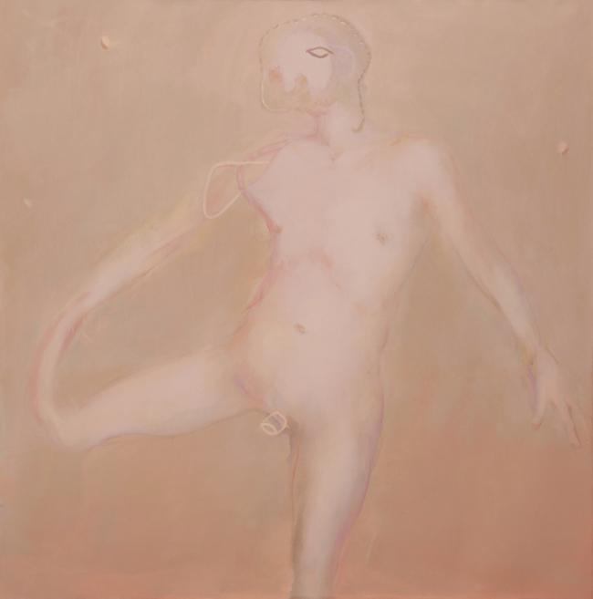 SATURNO-Glissade-2012-Acrilico e olio su tela-160x160cm