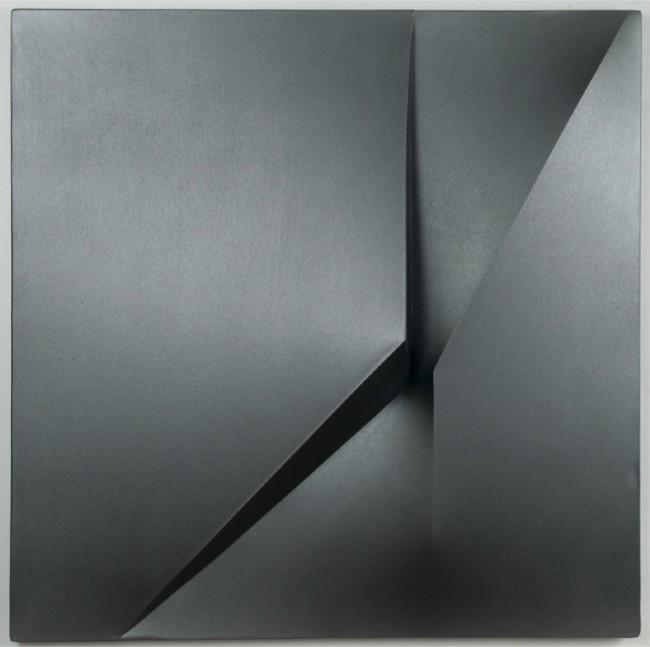 Giuseppe Amadio, Latu, 2010, tela estroflessa, 99x99 cm