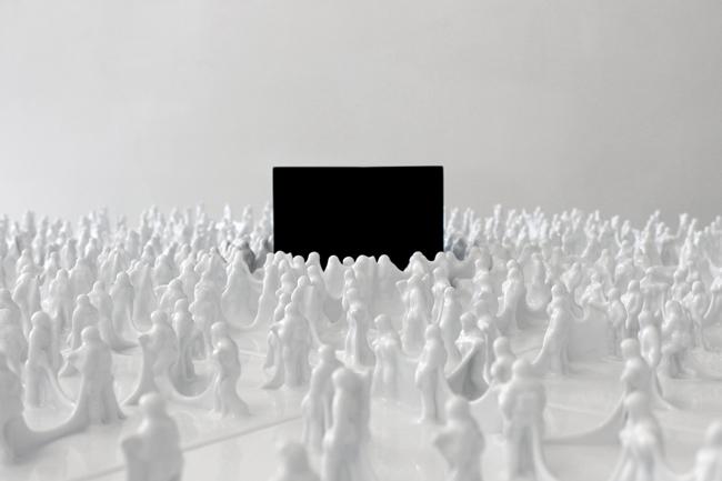 Gino Sabatini Odoardi, Senza titolo + cubo con rumore segreto 2010 (Part.)