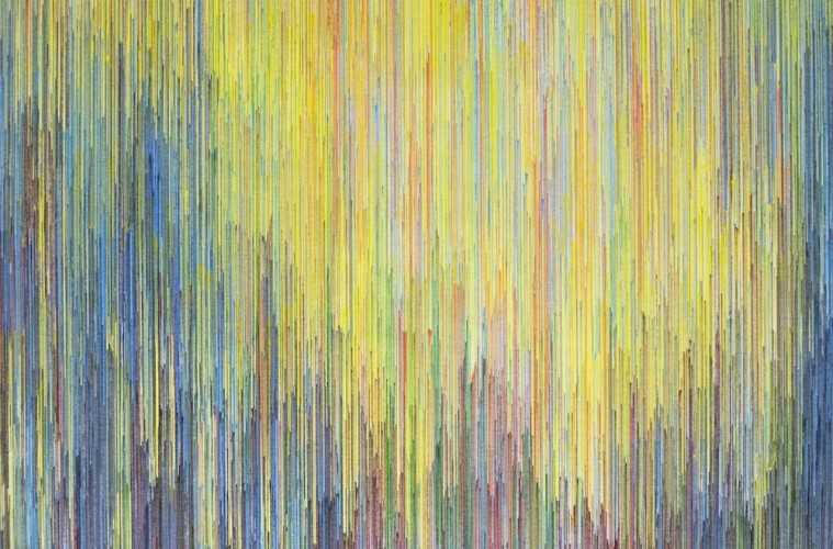 Joan Saló Armengol, b85, 2015, penna su tela, 70x70 cm Courtesy Maurizio Caldirola Arte Contemporanea, Monza