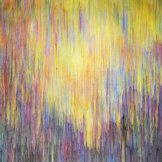 Joan Saló Armengol, b86, 2015, penna su tela, 195x195 cm Courtesy Maurizio Caldirola Arte Contemporanea, Monza