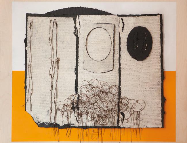 Roberto Floreani, Racconto, 2015, carta-tessuto a mano, cm 105x120