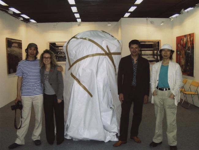 Giorgio Gaburro e Beatrice Benedetti con i Gao Brothers, Cige Pechino 2007