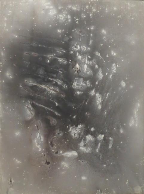 Vasco Bendini, Dalla serie gesto e materia, 1958, tempera acrilica su tela, 120x90 cm Courtesy La Giarina, Verona