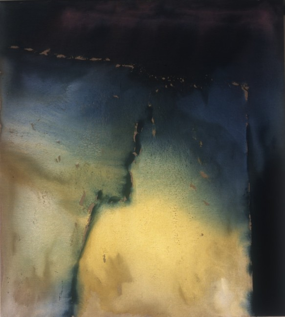 Vasco Bendini, Dove la luce ha luogo, 2004, tempera acrilica su tela, 200x180 cm Courtesy La Giarina, Verona