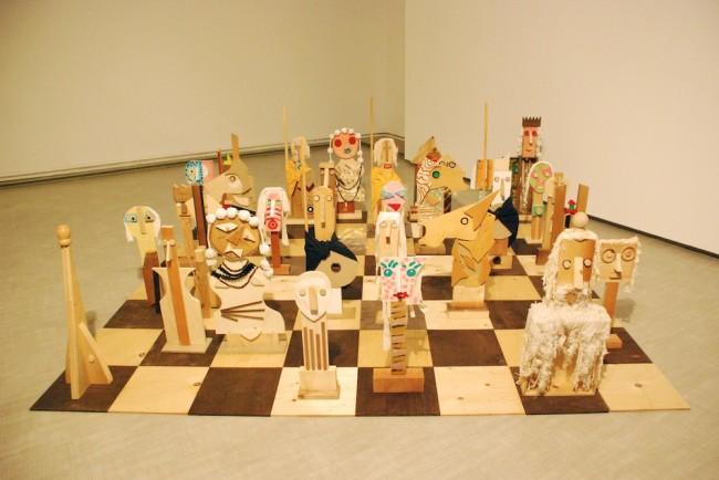 Enrico Baj, Il gioco degli scacchi, 1987, polimaterico, 270x270 cm Courtesy La Giarina, Verona