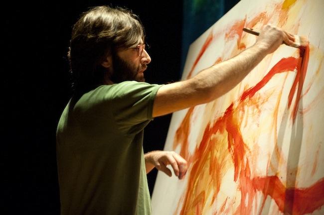 Giovanni Robustelli, immagine tratta dalla performance IL QUINTO ELEMENTO, 2013
