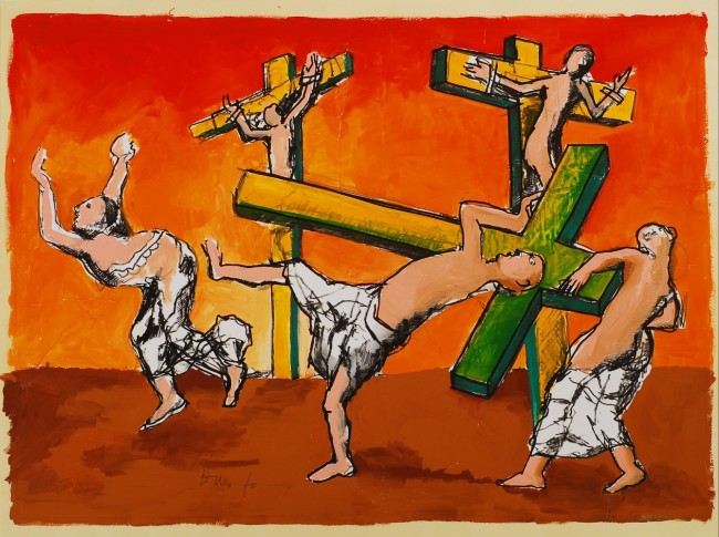 Dario Fo, Gesù prende a calci Bonifacio VIII