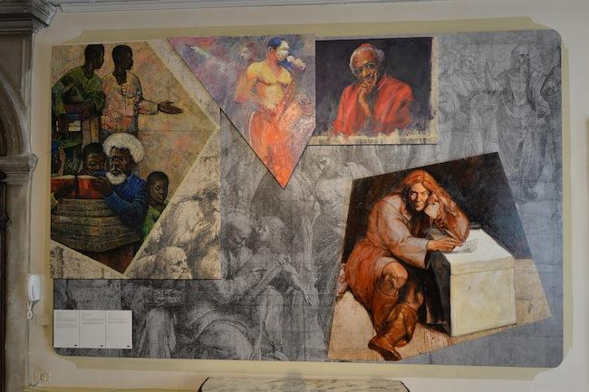 Italia Docet Laboratorium_Federico Guida e artisti nigeriani Oshinowo_ Ovraiti_Ogiugo