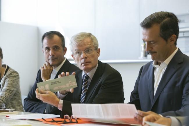 I direttori durante la presentazione della guida Dorsoduro Museum Mile Foto Matteo de Fina