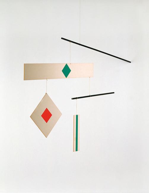 Bruno Munari, Macchina aerea, 1994, carta legno e filo, 70x120 cm