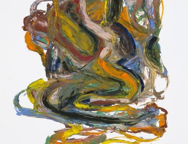 Matteo Fato, Studio di (Nuvola), 2015, oil stick su carta cm 35x50, cornice in multistrato e specchio. Courtesy dell'Artista & Galleria Bianconi, Milano