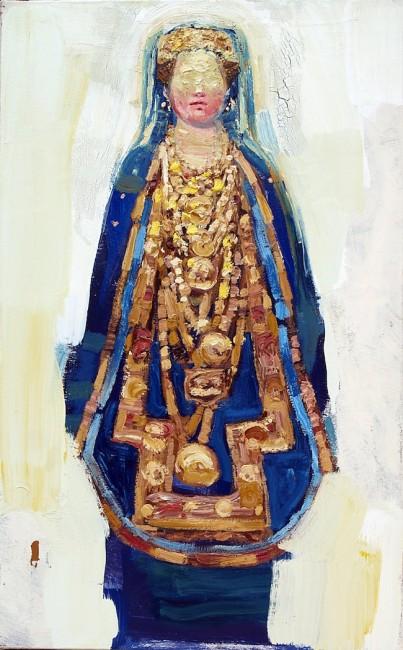 Giovanni Robustelli, Medea, 2014, olio su tela, cm 80x50