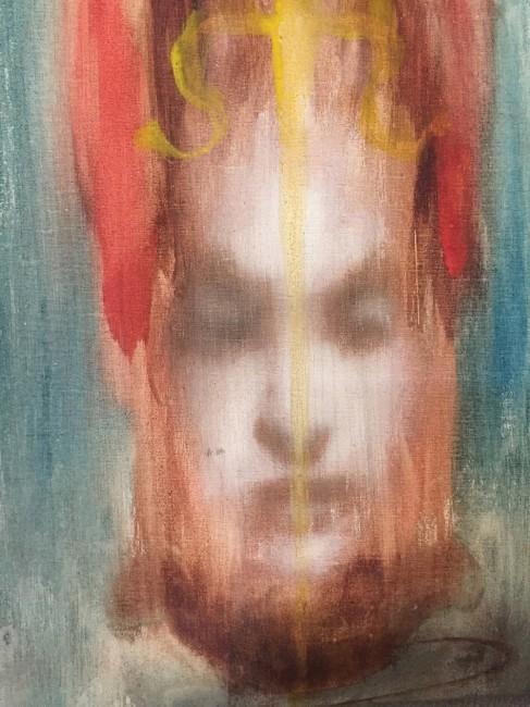 Omar Galliani, Dalle stanze di Ophelia, 1986, acquerello su tela, 40x30 cm © Luca Trascinelli