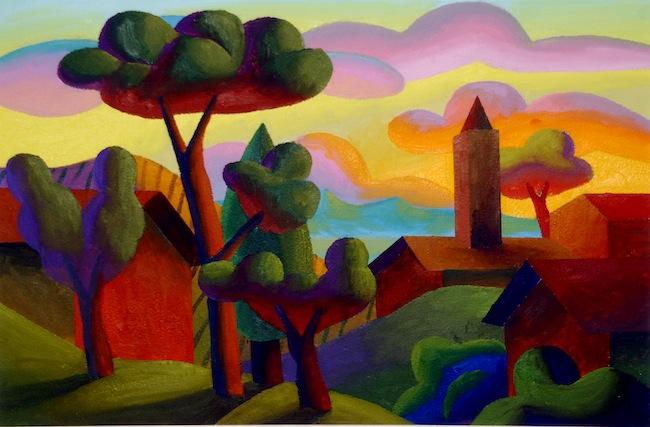 Salvo, 2007, S.T, olio su tavola, cm 40x60. Courtesy Cerruti Arte, Genova