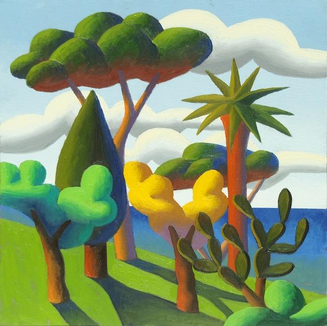 Salvo, S.T., 2007, olio su tela, cm 60x60. Courtesy Cerruti Arte, Genova