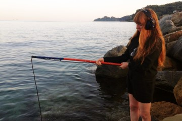 Susan Philipsz, recording in Santa Margherita. Foto: Eoghan Mctigue